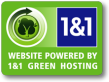 KinemaGigz is a 1&1 'Green Hosting' website.